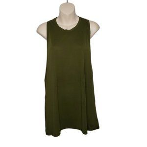LULULEMON army green flowy open back tank size 6